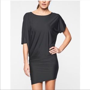 Athleta Dresses - ATHLETA Sunlover Hilo UPF Black Dress Size L